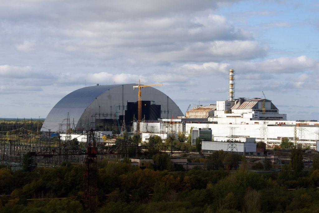 Arka oraz bloki 3 i 4 elektrowni jądrowej w Czarnobylu / Fot. Tomasz Róg
