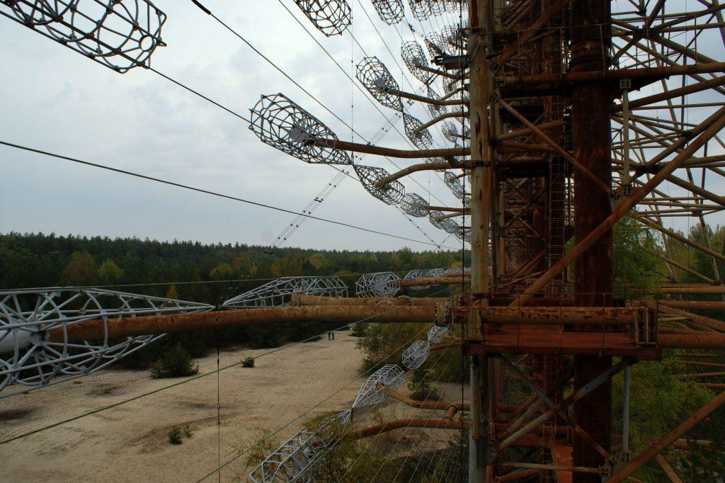 Widok na okolicę z drugiego piętra anteny. Fot. Tomasz Róg