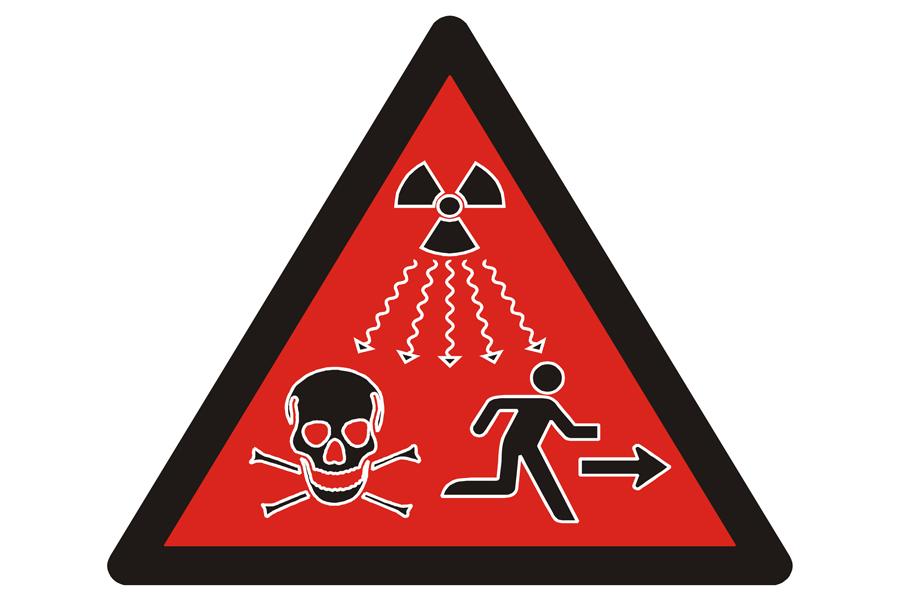 Nowy symbol promieniowania jonizującego / Fot. domena publiczna
