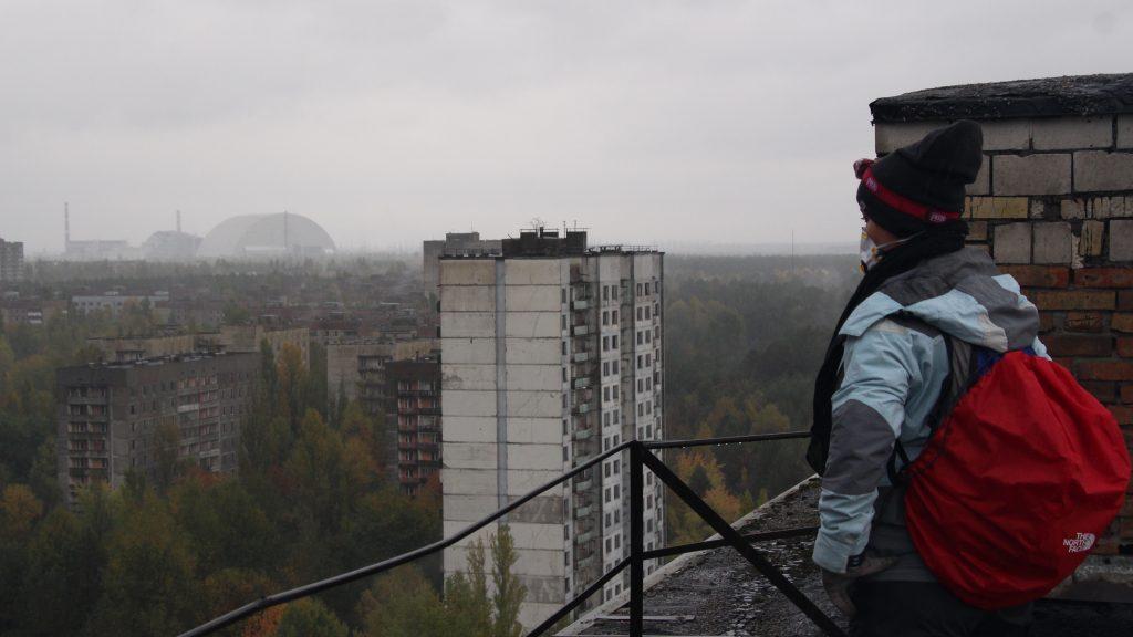 Na dachu wieżowca Fukuyama Bis / Fot. Sławomir Kroczyński