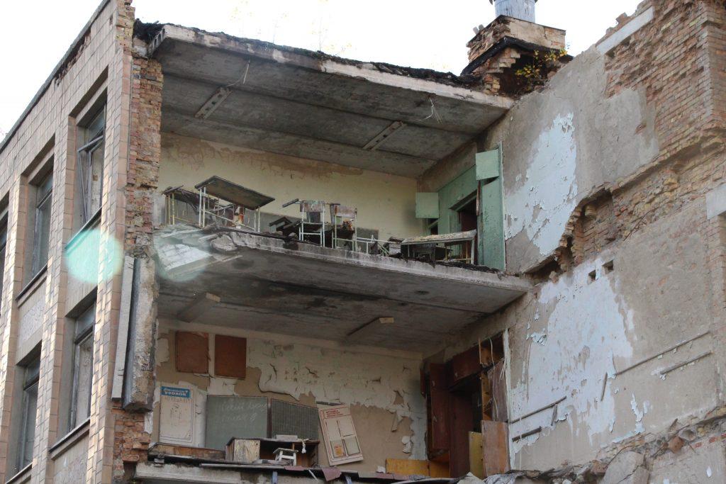 Zniszczony budynek szkoły nr 1 w Prypeci / Fot. Małgorzata Świeżowska