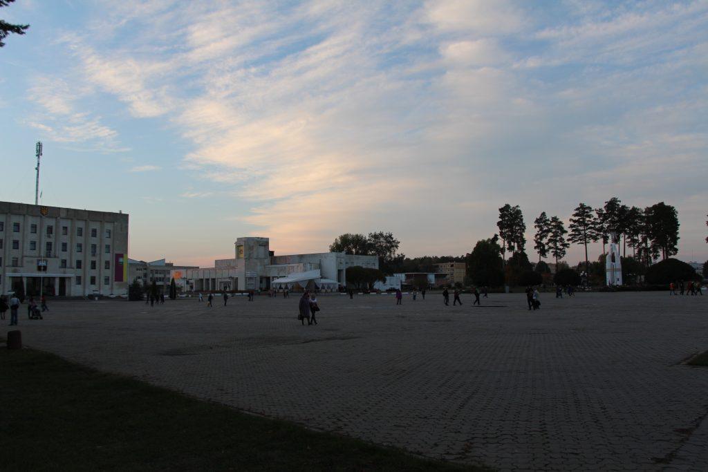 Centrum miasta Sławutycz / Fot. Małgorzata Świeżowska