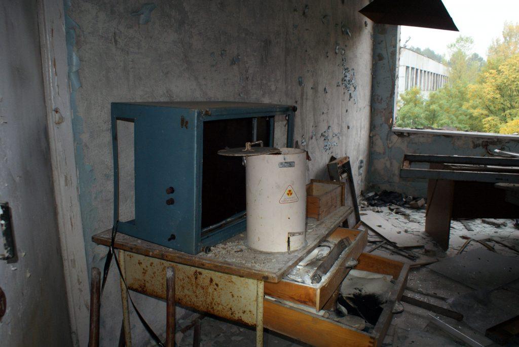 Pojemnik na materiały radioaktywne / Fot. Tomasz Róg