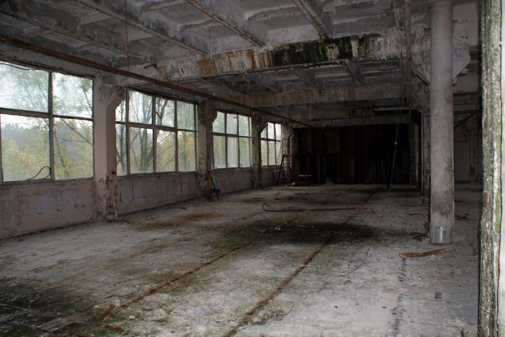 Jedna z hal kompleksu przemysłowego / Fot. Tomasz Róg