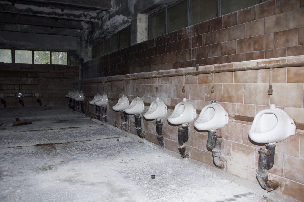 Toaleta męska na terenie stadionu / Fot. Sebastian Marciak, marciak.pl