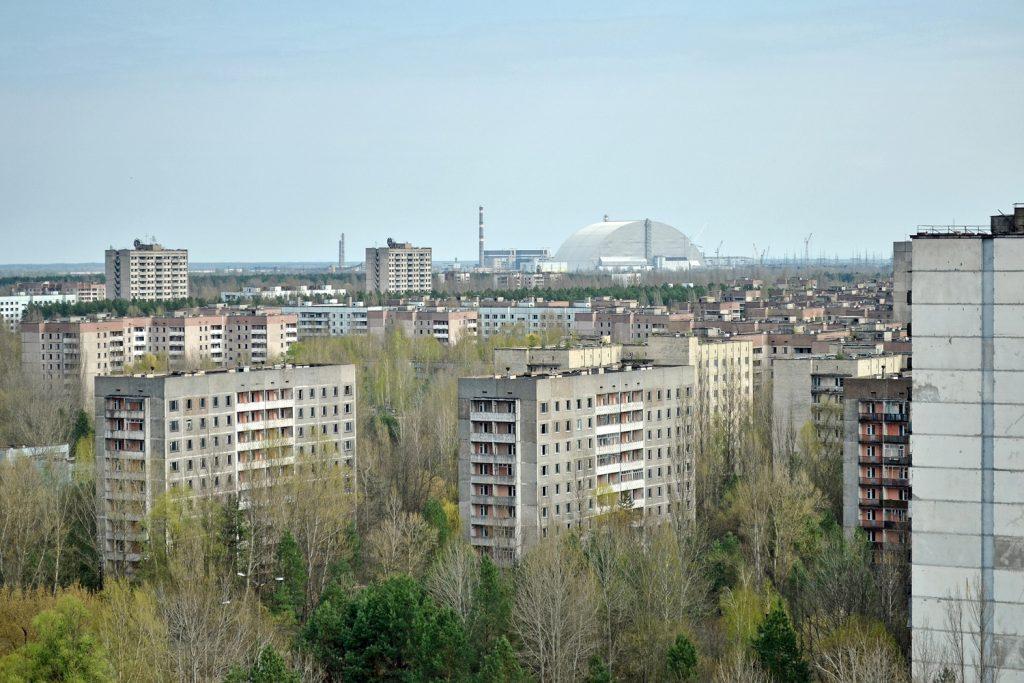 Widok na Prypeć z wieżowca Fujiyama Bis. Fot. Andrzej Bryśkiewicz