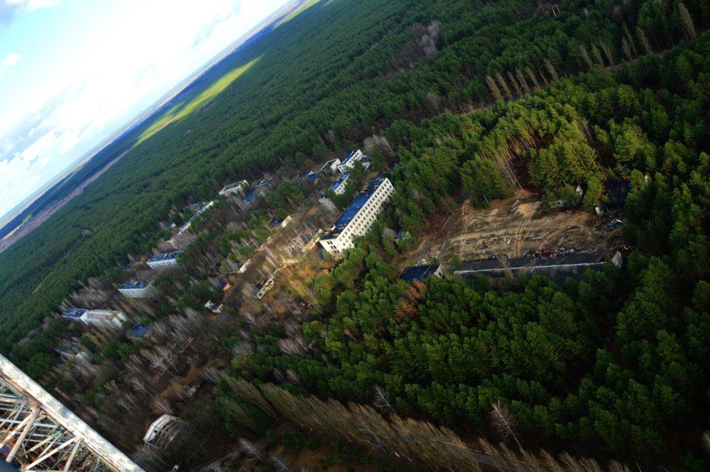 Widok na miasteczko Czarnobyl-2. Wyprawa - wiosna 2015 r. Fot. Staszek (stalker)