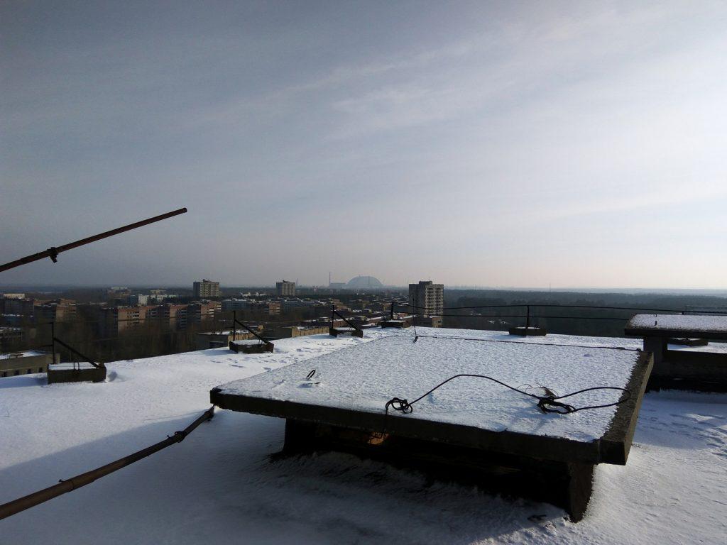 Sylwester na dachach Prypeci. Wyprawa sylwestrowa 2016/2017. Fot. Staszek (stalker)
