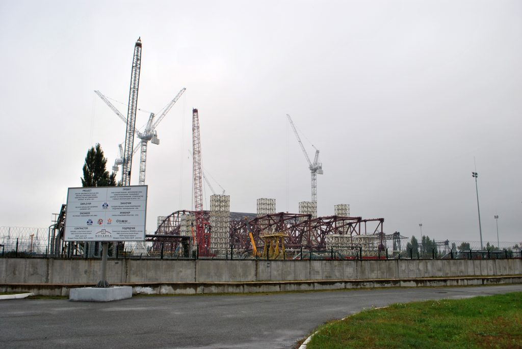Plac budowy łuku - nowego sarkofagu. Wyprawa pierwsza - wrzesień 2012 r. Fot. Staszek (stalker)