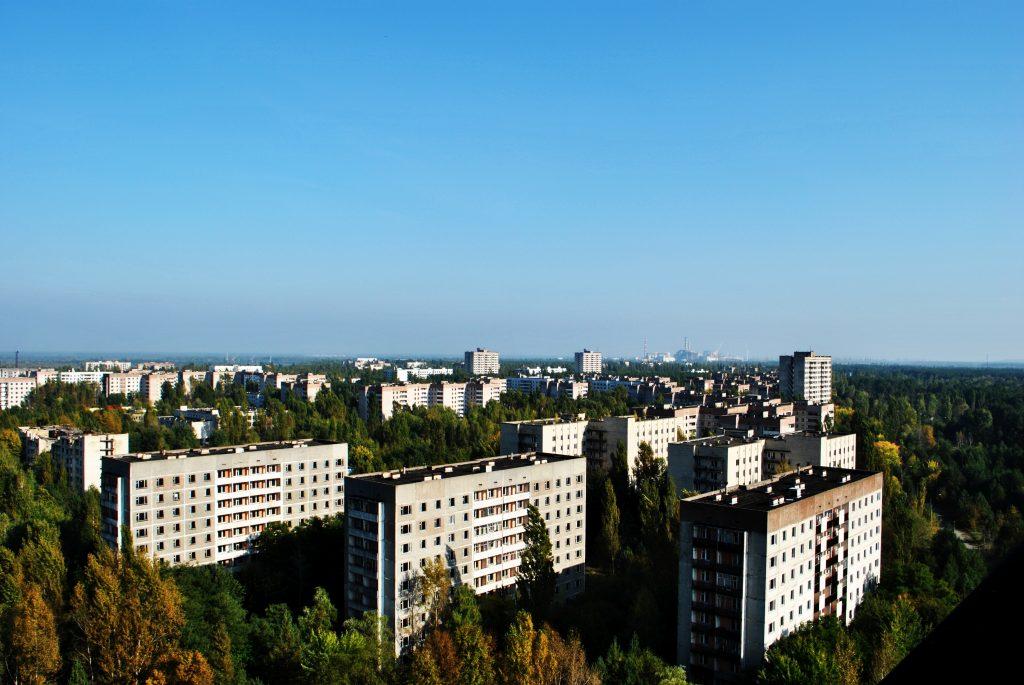Panorama Prypeci. Wyprawa pierwsza - wrzesień 2012 r. Fot. Staszek (stalker)