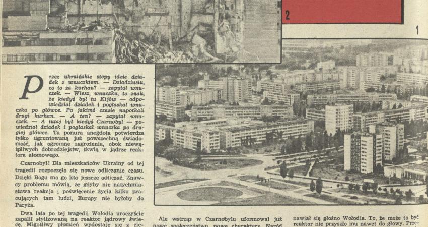 """Fragment strony tygodnika """"Przekrój"""" z 16 kwietnia 1989 r. / Fot. Przekrój"""