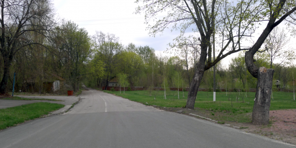 Jedna z ulic w Czarnobylu / Fot. Tomasz Róg