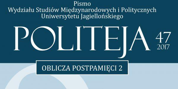 "Fragment okładki numeru 47 ""Politei"". Fot. akademicka.pl"