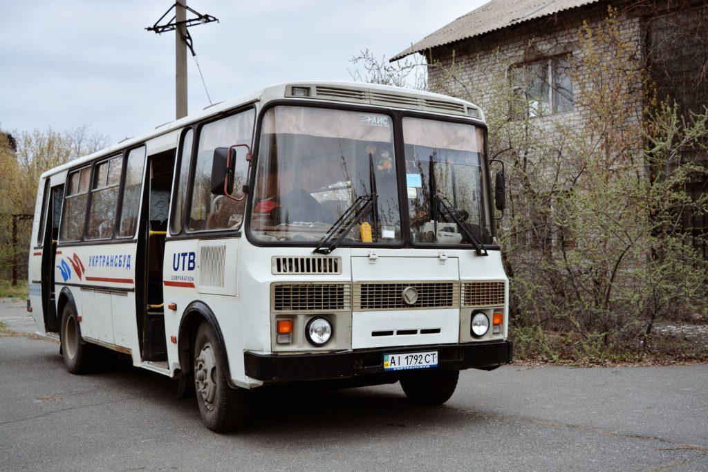 Autobus używany przez grupę w Zonie. Fot. Karolina Prusińska