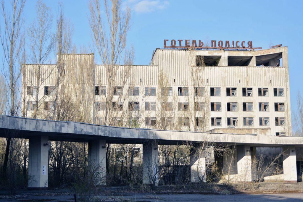 """Widok na budynek hotelu """"Polesie"""". Fot. Karolina Prusińska"""