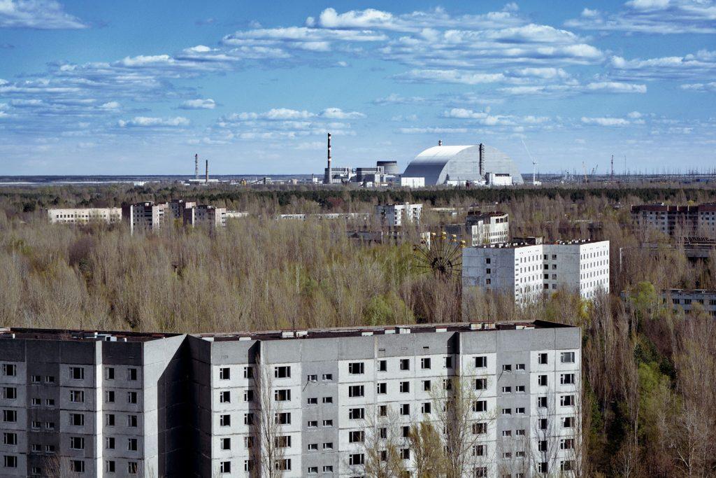 Wiosenna panorama Prypeci i elektrowni jądrowej. Fot. Karolina Prusińska
