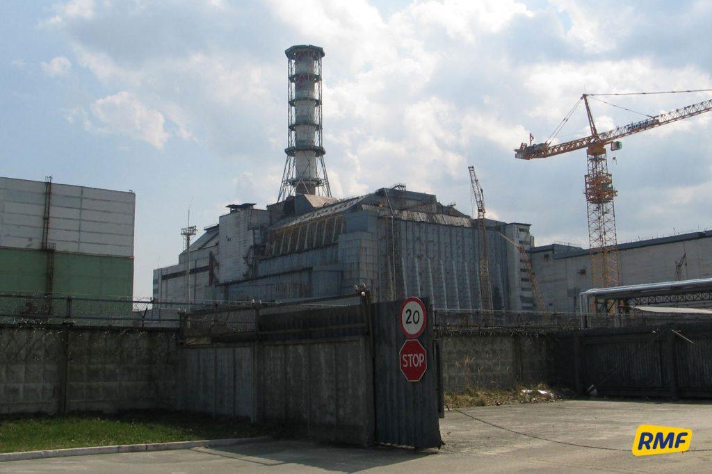 Sarkofag nad ruinami reaktora numer IV. Fot. Krzysztof Zasada / RMF FM