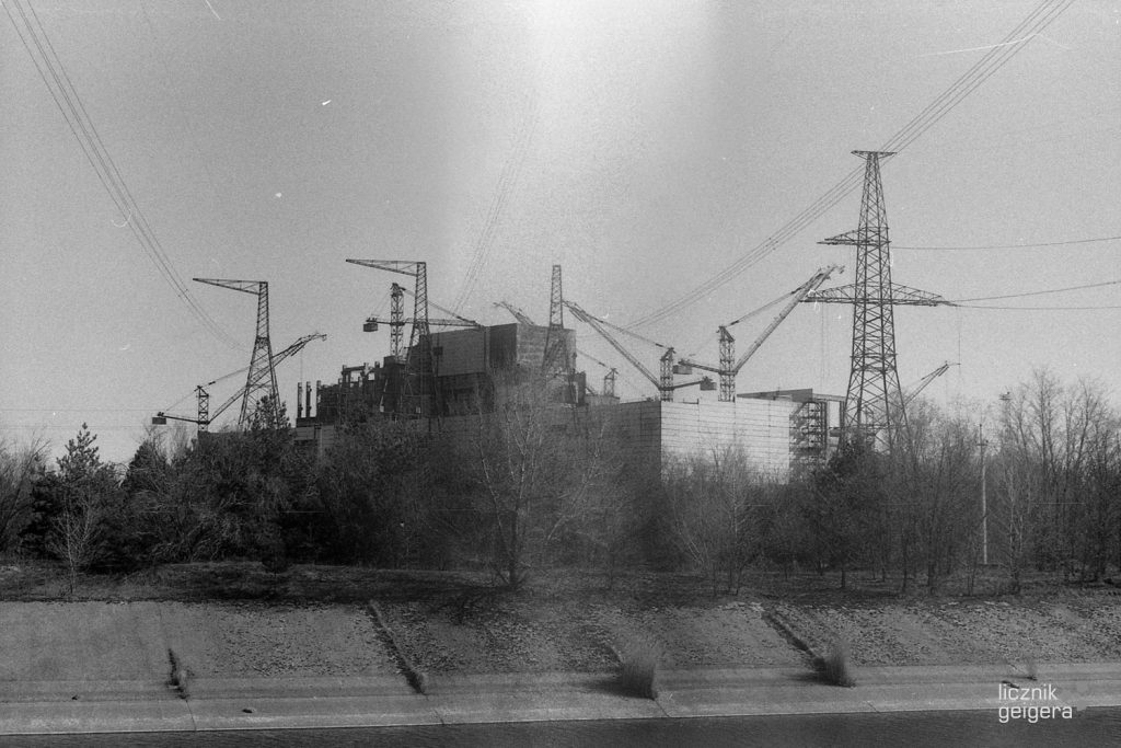 Widok na plac budowy piątego i szóstego bloku elektrowni. Fot. Karolina Prusińska