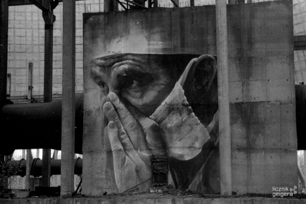 Graffiti we wnętrzu chłodni kominowej. Fot. Karolina Prusińska