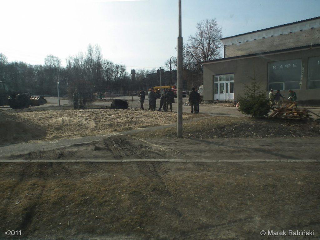 Miejsce po pomniku 60-lecia Komsomołu. Fot. Marek Rabiński
