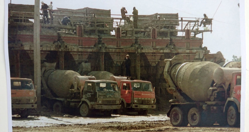 Zdjęcie z czasów funkcjonowania punktu przeładunkowego. Fotografia znajduje się w pawilonie informacyjnym czarnobylskiej elektrowni. Fot. Tomasz Róg
