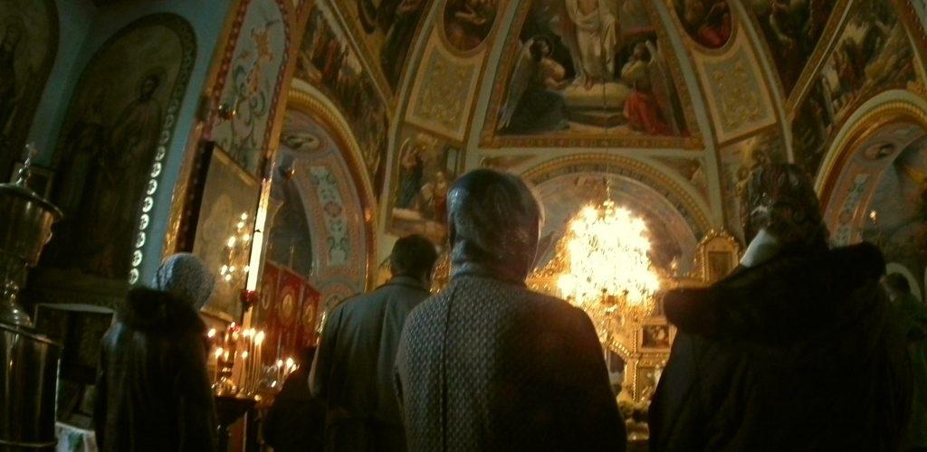 Wnętrze cerkwi św. Eliasza - stan obecny. Zdjęcie z archiwum cerkwi w Czarnobylu. Fot. Marek Rabiński
