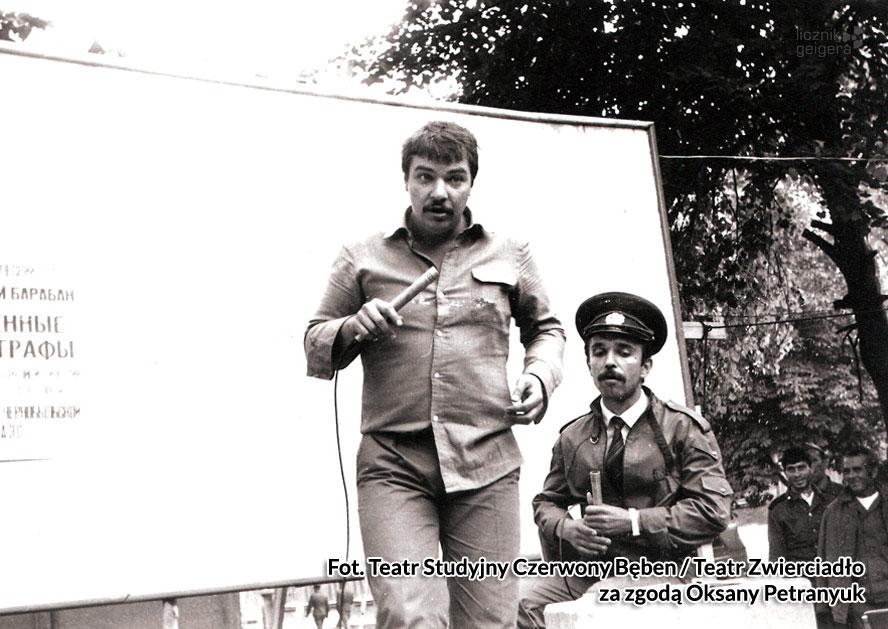 Koncert w Zonie. Fot. Teatr Studyjny Czerwony Bęben / Teatr Zwierciadło za zgodą Oksany Petranyuk