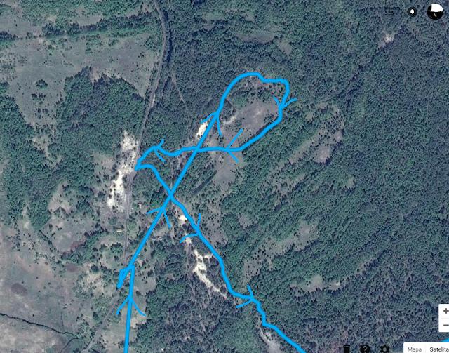 """Tak się kończy chodzenie """"na przestrzał"""" bez patrzenia na kompas, czy chociażby pozycję słońca na niebie. Fot. Google Maps"""
