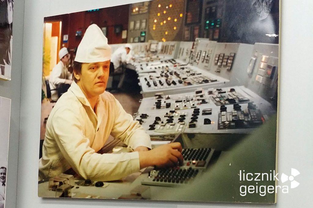 Zdjęcie z czarnobylskiej elektrowni - ekspozycja muzealna. Fot. Tomasz Róg