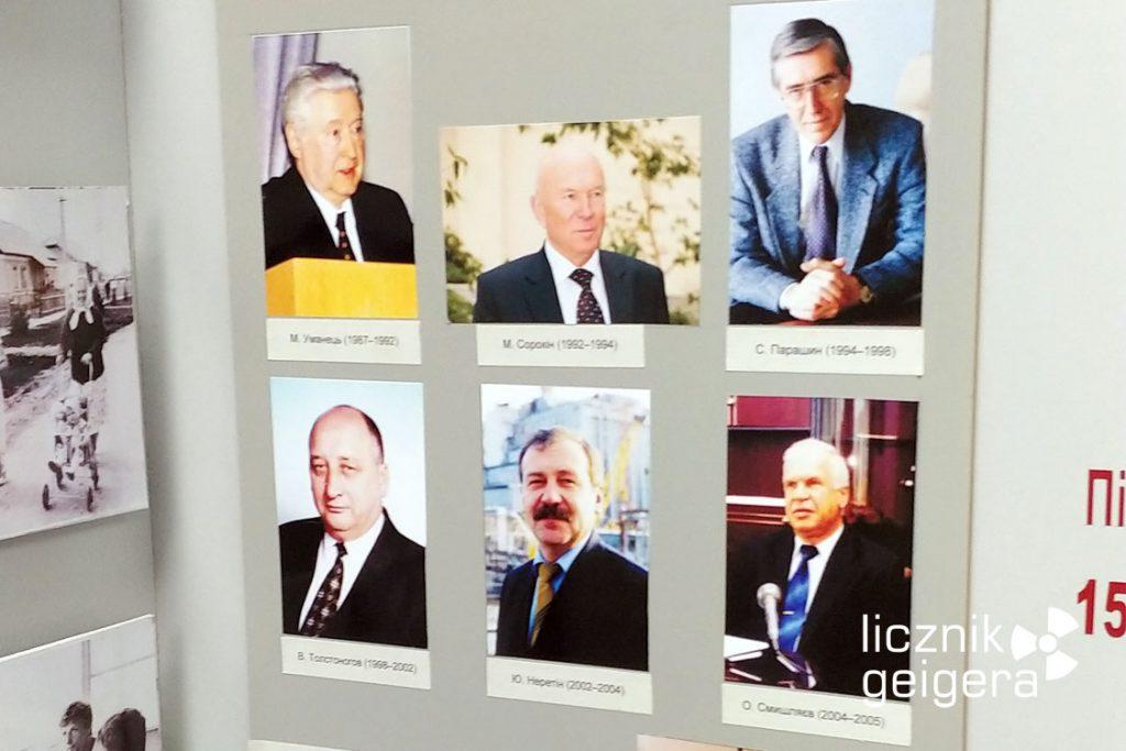 Dyrektorzy czarnobylskiej elektrowni w latach 1987-2005 - ekspozycja muzealna. Fot. Tomasz Róg