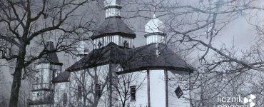 Zdjęcie nieistniejącej już cerkwi we wsi Tołsty Las. Fot. Tomasz Róg