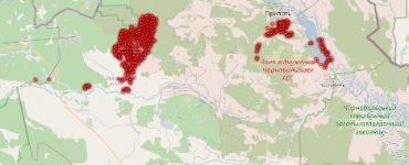 Sytuacja pożarowa we wtorek, 14 kwietnia (godz. 9.00). Fot. dazv.gov.ua