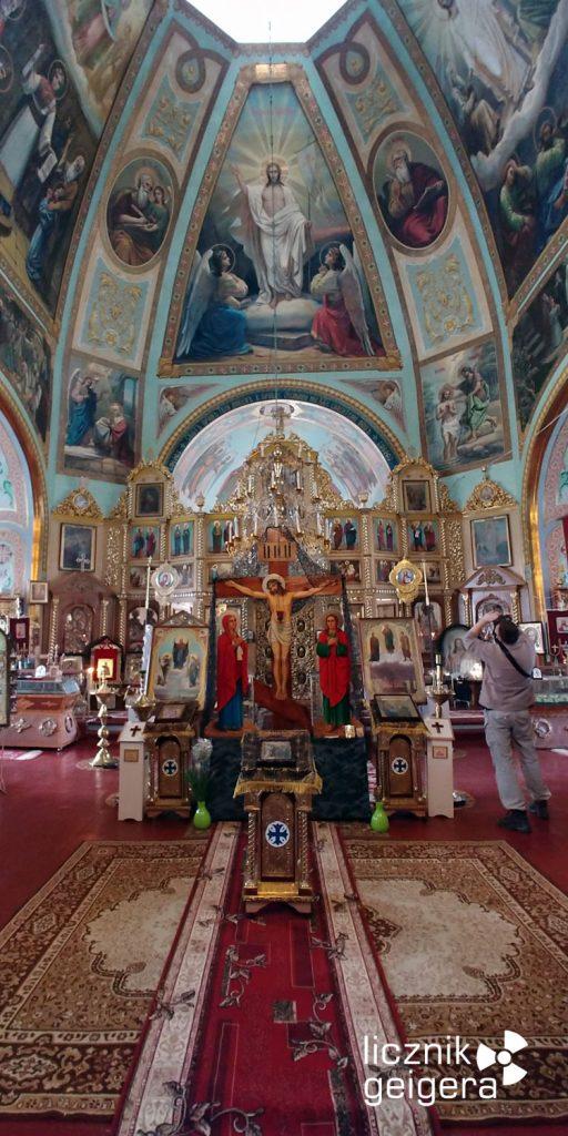Wnętrze cerkwi św. Eliasza w Czarnobylu. Fot. Tomasz Róg